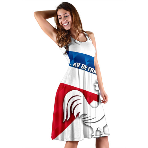 Image of France Rugby Women's Dress Le XV De France Sporty Style K8