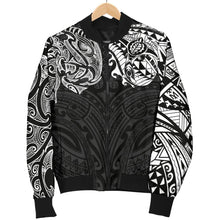 Load image into Gallery viewer, New Zealand Men's Bomber Jacket, Maori Polynesian Tattoo White TH4 - 1st New Zealand