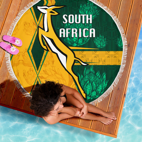 South Africa Beach Blanket Springboks Rugby Be Fancy K8