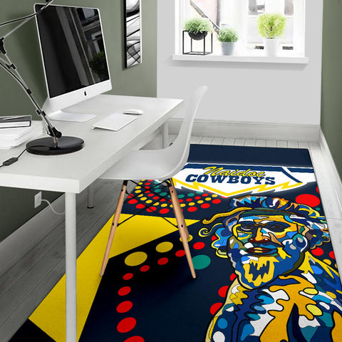 Cowboys Naidoc Week Fire Area Rug North Aboriginal Star Style | Rugbylife.co
