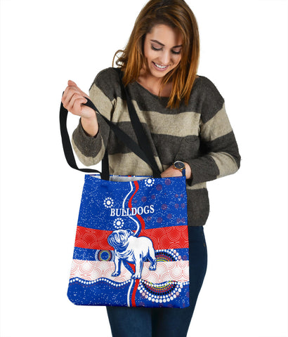 Western Tote Bag Bulldogs Unique Indigenous K8