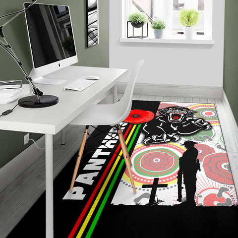 Penrith Panthers Area Rug Anzac Day Power Style TH12