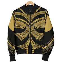 Load image into Gallery viewer, Samoan Tattoo Men's Bomber Jacket Gold TH4 - 1st New Zealand