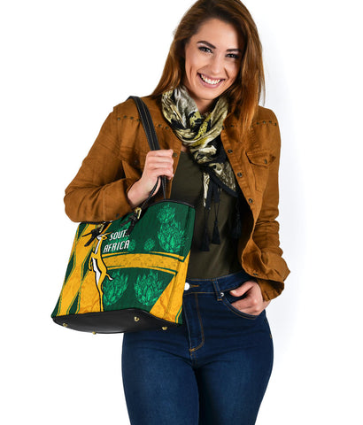 South Africa Small Leather Tote Springboks Rugby Be Fancy K8