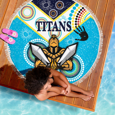 Gold Coast Beach Blanket Titans Gladiator Unique Indigenous K8