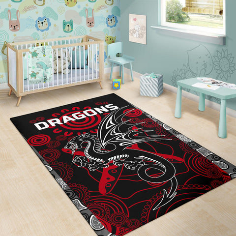 Dragons Area Rug St. George Aboriginal TH6