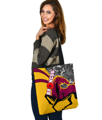 Brisbane Broncos Tote Bag Anzac Day - Camo Style TH12