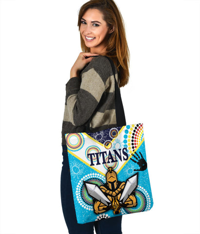 Image of Gold Coast Tote Bag Titans Gladiator Unique Indigenous K8