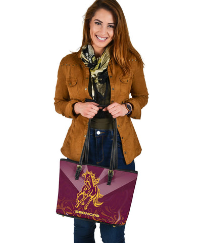 Brisbane Broncos Indigenous Small Leather Tote TH5