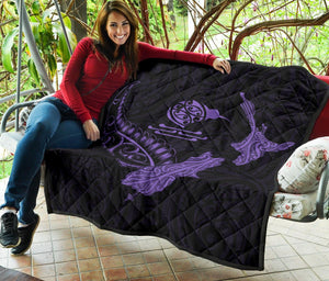 New Zealand Heart Premium Quilt - Map Kiwi mix Silver Fern Pastel Purple K4 - rugbylife