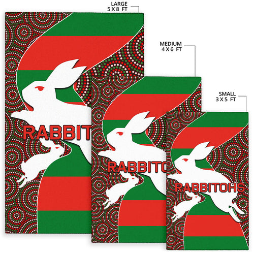 Rabbitohs Area Rug