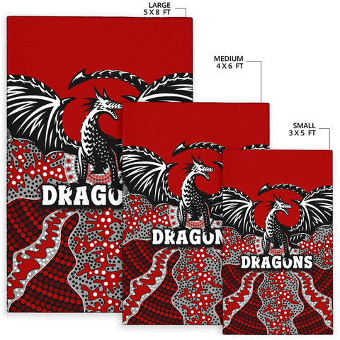 Dragons Area Rug St. George Aboriginal TH12