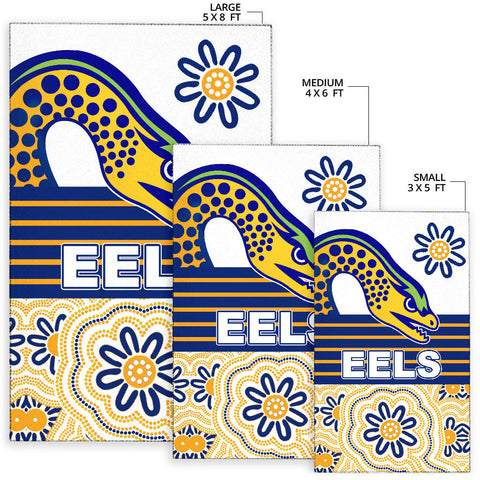 Image of Eels Rugby Area Rug Indigenous Parramatta Newest White K13