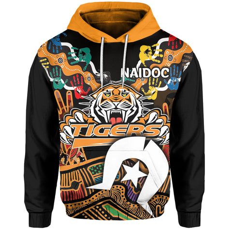Image of (Custom Personalised)  Naidoc Wests Tigers Hoodie Torres Strait Islander