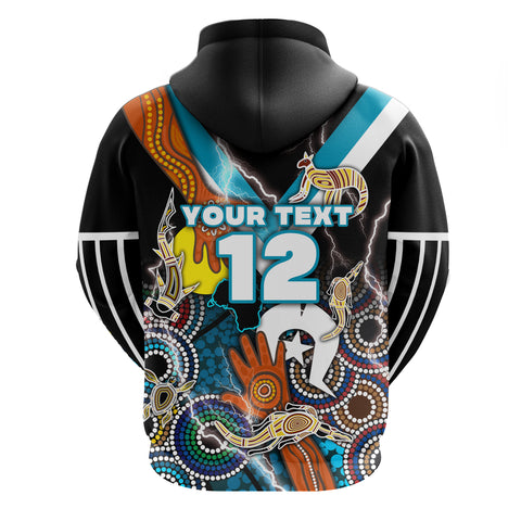 (Custom) Power Naidoc Week Hoodie Adelaide Special Version - Custom Text and Number | Rugbylife.co