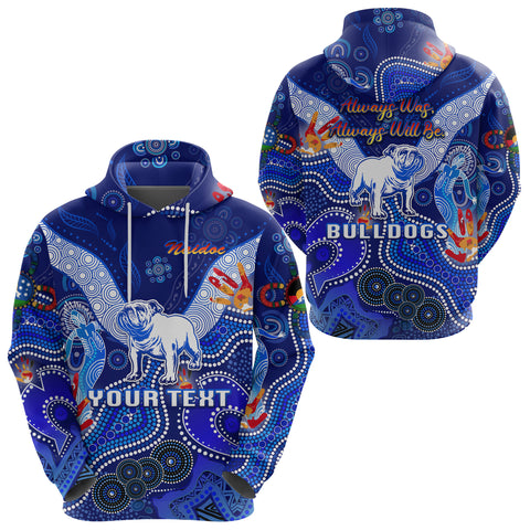 (Custom Personalised) Canterbury-Bankstown Bulldogs Hoodie Naidoc Heal Country! Heal Our Nation
