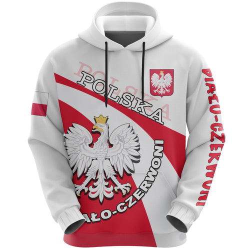 Poland All Over Print Hoodie Biało-czerwoni Football Style