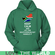 Load image into Gallery viewer, Keep Calm South African Guy - Bn Gildan Mens T-Shirt / Black S T-Shirts