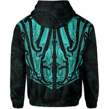 Load image into Gallery viewer, Maori Ta Moko Hoodie New Zealand Turquoise K4 - 1st New Zealand