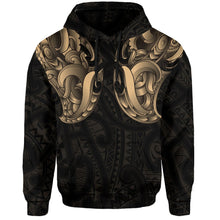 Load image into Gallery viewer, Maori Ta Moko Hoodie New Zealand Gold K4 - 1st New Zealand