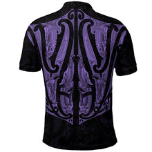 Load image into Gallery viewer, Maori Ta Moko Polo Shirt New Zealand Pastel Purple K4 - 1st New Zealand