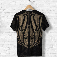 Load image into Gallery viewer, Maori Ta Moko T Shirt New Zealand Gold K4 - 1st New Zealand