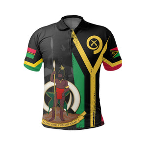 Vanuatu Flag Coat Of Arm Polo  Shirt - J4