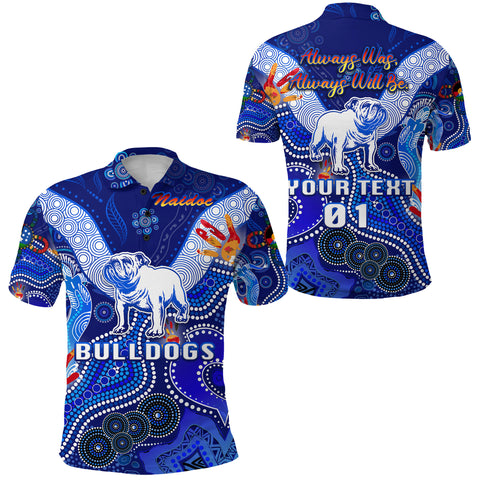 Image of (Custom Personalised) Canterbury-Bankstown Bulldogs Polo Shirt Naidoc Heal Country! Heal Our Nation, Custom Text And Number