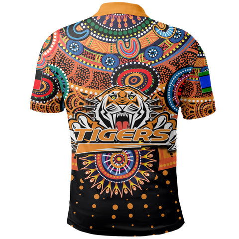Image of (Custom Personalised) Naidoc Wests Tigers Polo Shirt Indigenous K6
