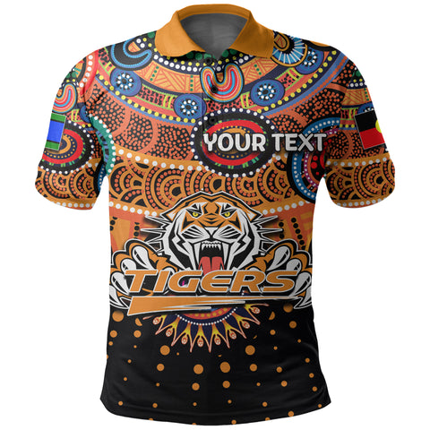 Image of (Custom Personalised) Naidoc Wests Tigers Polo Shirt Indigenous