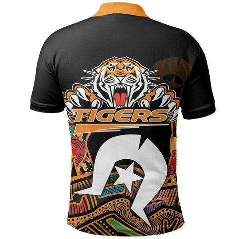 Image of Naidoc Wests Tigers Polo Shirt Torres Strait Islander K6