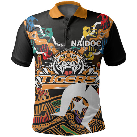 Image of (Custom Personalised) Naidoc Wests Tigers Polo Shirt Torres Strait Islander