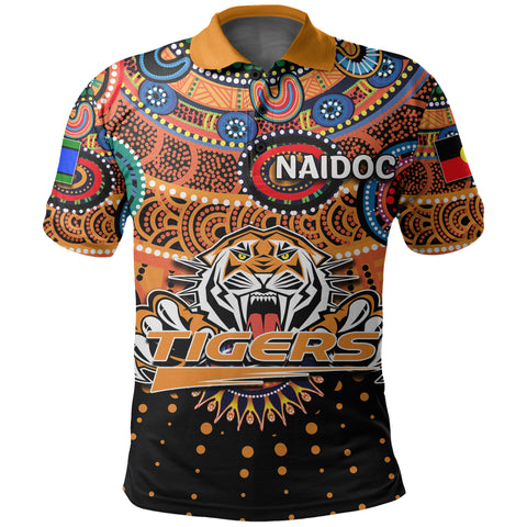 Image of Naidoc Wests Tigers Polo Shirt Indigenous
