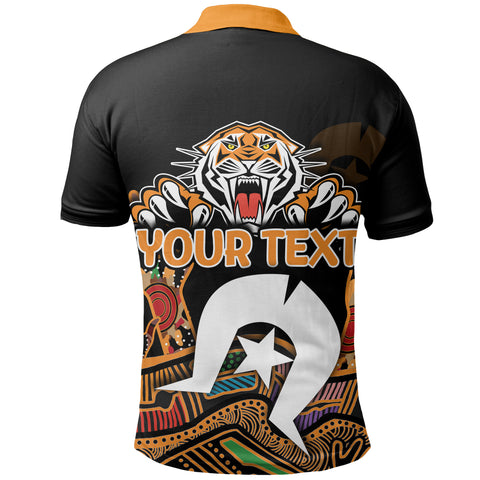 Image of (Custom Personalised) Naidoc Wests Tigers Polo Shirt Torres Strait Islander K6