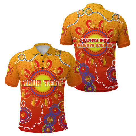 Image of (Custom Personalised) Naidoc Suns Polo Shirt Gold Coast Indigenous Style