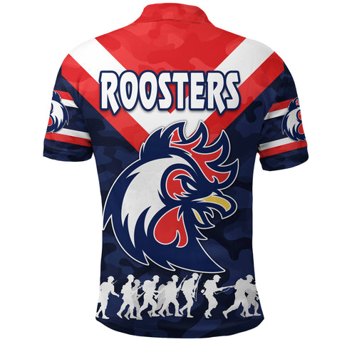 Sydney Polo Shirt Roosters Anzac Style K8