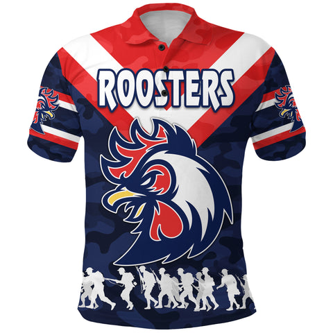 Sydney Polo Shirt Roosters Anzac Style