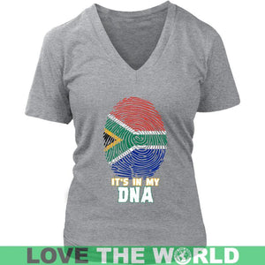 South Africa In My Dna T-Shirt A5 Gildan Long Sleeve Tee / Black S T-Shirts