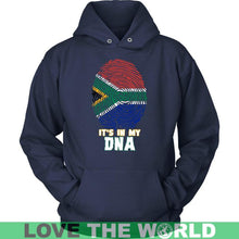 Load image into Gallery viewer, South Africa In My Dna T-Shirt A5 Gildan Long Sleeve Tee / Black S T-Shirts