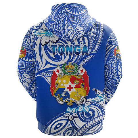 Mate Ma'a Tonga Rugby Hoodie Polynesian Unique Vibes - Blue K8