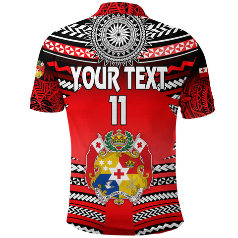 (Custom Personalised) Mate Ma'a Tonga Rugby Polo Shirt Polynesian Creative Style, Custom Text and Number K8