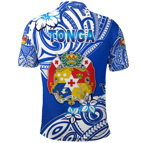 (Custom Personalised) Mate Ma'a Tonga Rugby Polo Shirt Polynesian Unique Vibes - Blue K8