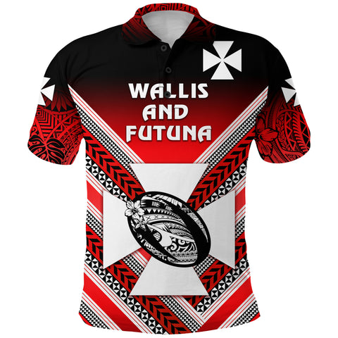 (Custom Personalised) Wallis and Futuna Rugby Polo Shirt, Custom Text and Number Creative Style