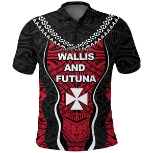 Wallis and Futuna Tapa Polo Shirt K4