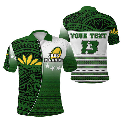 (Custom Personalised) Cook Islands Rugby Polo Shirt Impressive Version - Custom Text and Number | Rugbylife.co