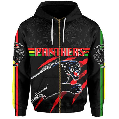 Panthers All Over Zip-Hoodie Claws
