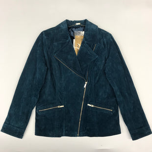 Primary Photo - BRAND: DENNIS BASSO QVC STYLE: JACKET OUTDOOR COLOR: TEAL SIZE: M SKU: 212-21252-12451