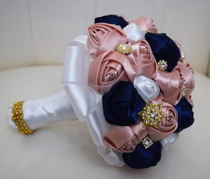 Custom Bling Dreams Brooch Bouquet with RHINESTONE Accents