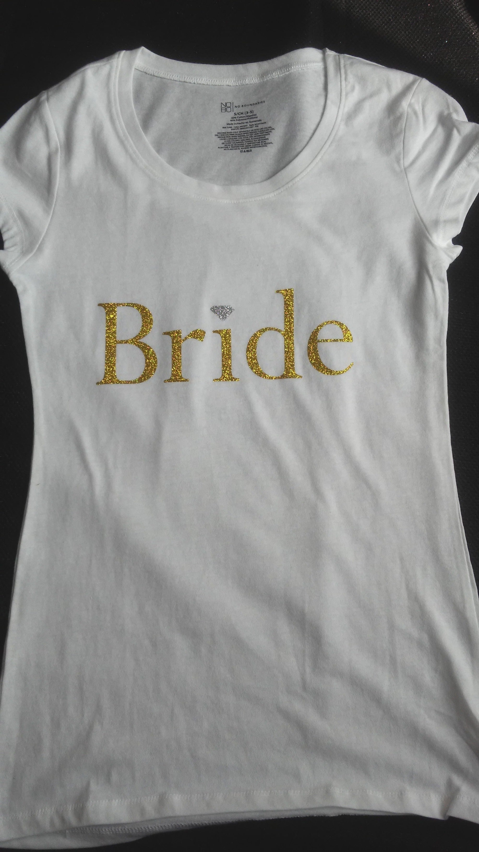 Silver & Gold Bling Bride T-Shirt
