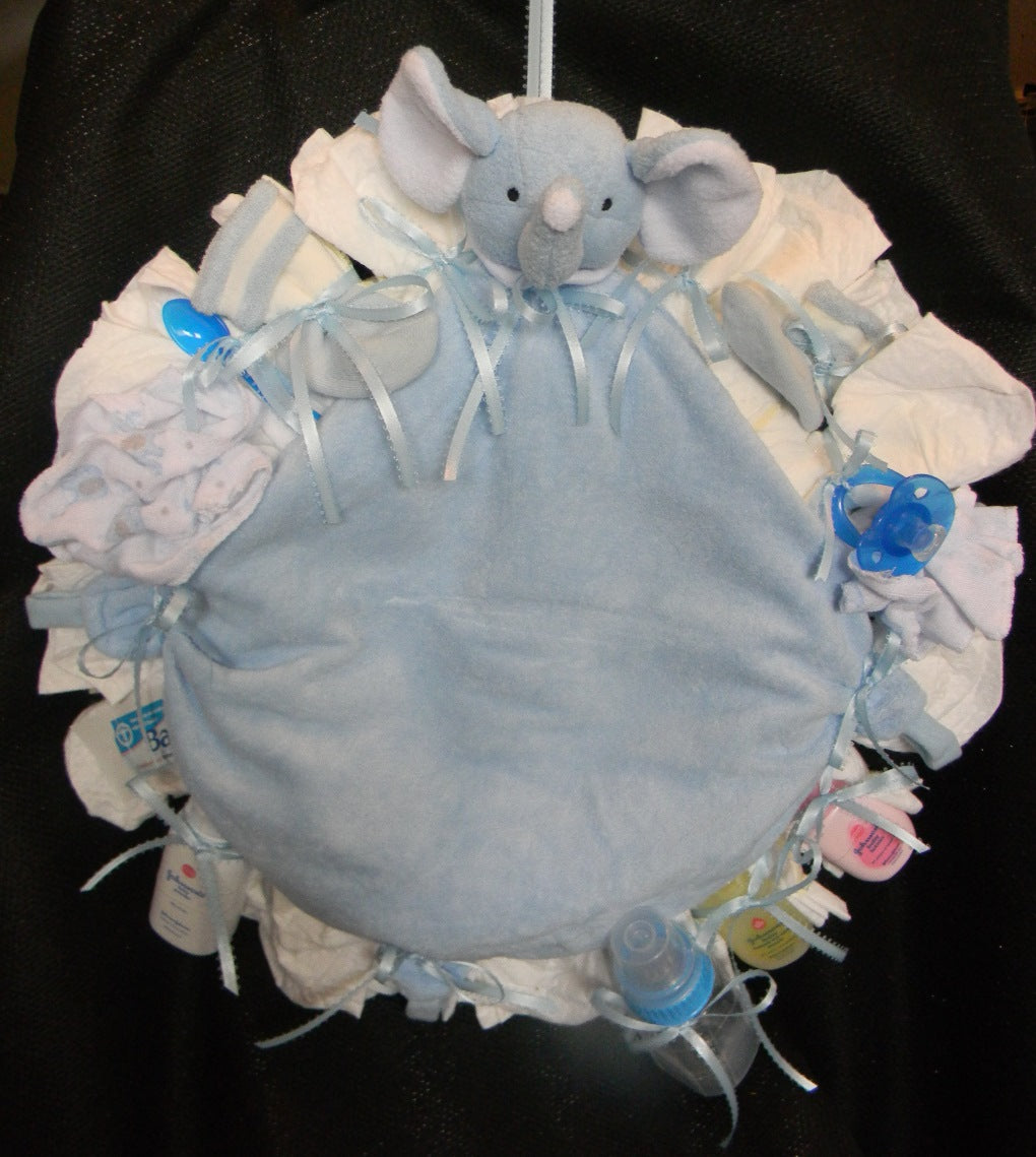 Elephant Diaper Wreath